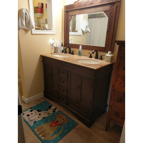 Silkroad Exclusive Mesa 48 Inch Double Sink Bathroom Vanity Free Shipping Today 4777463