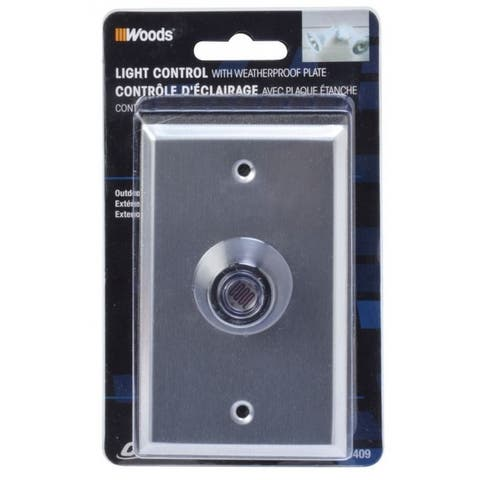 Woods 59409 Outdoor Hardwire Post Eye Light Control with Photocell & Wall Plate