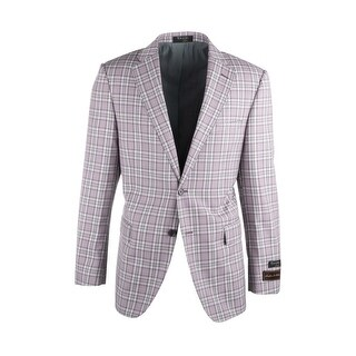Sangria Lavender and White Plaid Pure Wool Jacket by Tiglio Luxe (More options available)