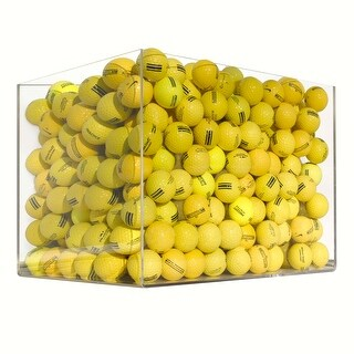 100 Range Yellow Mix - Near Mint (AAAA) Grade - Recycled (Used) Golf Balls