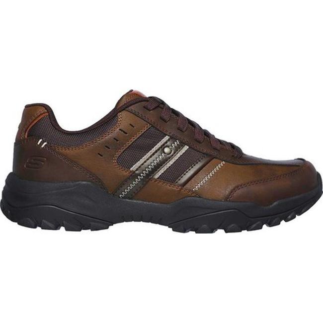 Skechers Men's Relaxed Fit Henrick Delwood Sneaker Dark Brown