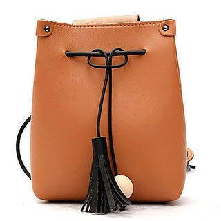 QZUnique Women's Drawstring Handbag Bucket Tassel Shoulder Bag Clutch Bags