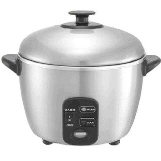 Sunpentown SC-886 3 Cup Stainless Steel Rice Cooker and Steamer