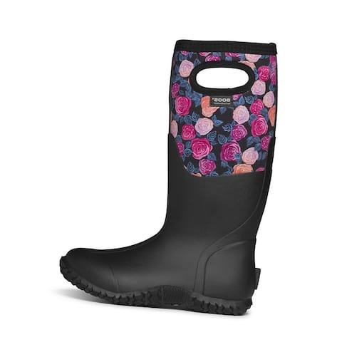Bogs Outdoor Boots Womens Mesa Water Rose Waterproof Insulated - Black Multi