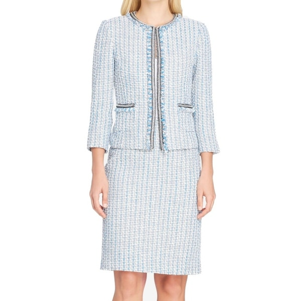 ce0eec0fe3ed Shop Tahari by ASL Gray Women's Size 4 Tweed Chain Skirt Suit Set - Free  Shipping Today - Overstock - 27149587