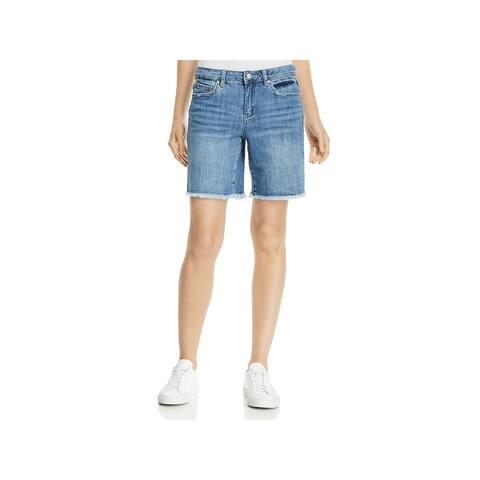 Joe's Jeans Womens Bermuda Shorts Denim Light Wash