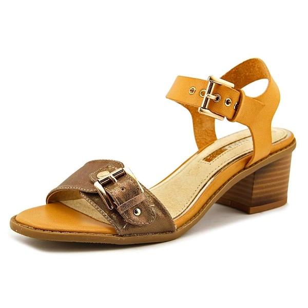 Maria Mare 66747 Women Open-Toe Leather Tan Slingback Sandal