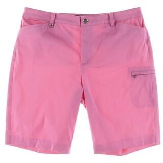 Lauren Ralph Lauren Womens Bermuda Shorts Sateen Casual