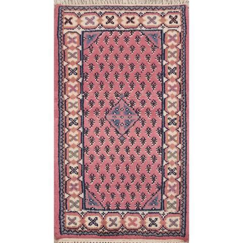 "Paisley Botemir Oriental Boteh Area Rug Wool Handmade Kitchen Carpet - 2'0"" x 3'0"""