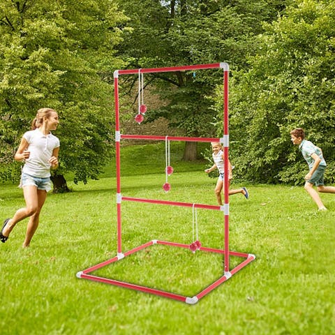 Ladder Throw Toss Game Toy Set Sports Balls Family Party