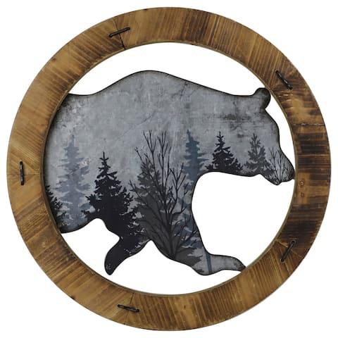 HiEnd Accents Round Bear wall décor
