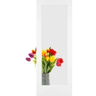 "Frameport CGL-PD-1L-6-2/3X2-1/3  Clear Glass 28"" by 80"" 1 Lite Interior Slab Passage Door"