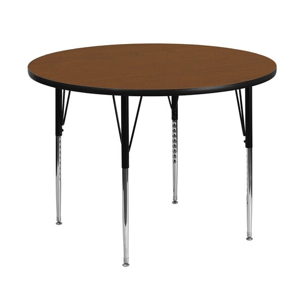 Standard Furniture Cosmo Adjustable Height Round Wood Top: Shop Offex 48'' Round Activity Table With 1.25'' Thick
