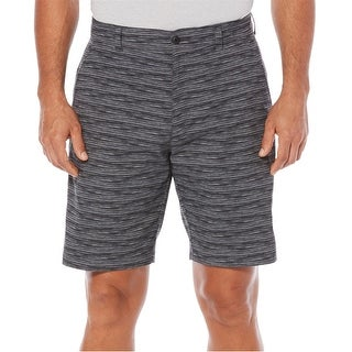 """PGA TOUR Men's Printed Golf Shorts Caviar Size 40"""" - Grey - 40"""