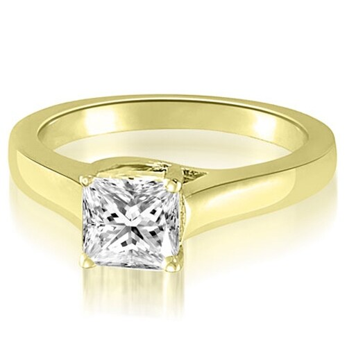 0.50 cttw. 14K Yellow Gold Classic Lucida Princess Diamond Engagement Ring