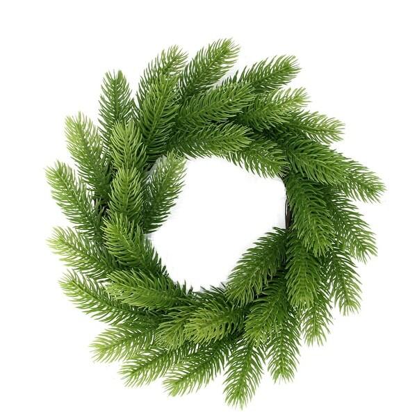 "12"" Two-Tone Mini Frasier Fir Artificial Christmas Wreath - Unlit"