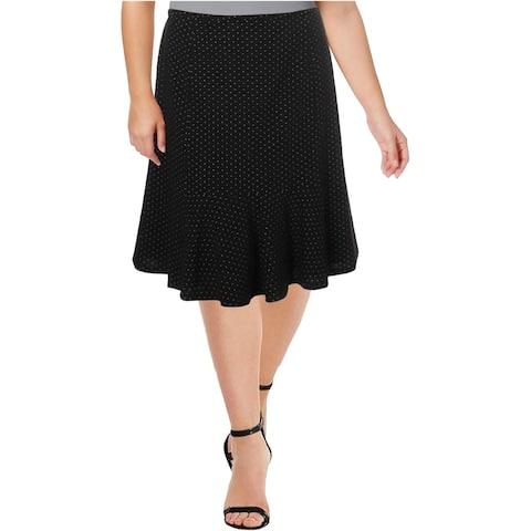 Nine West Womens Knit Flared Skirt