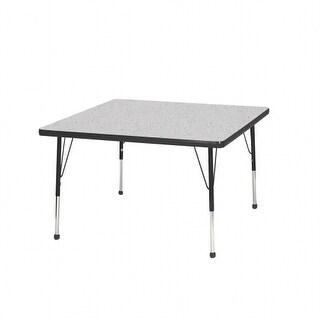 Mahar Manufacturing N36SQAO-SB 36 in. Square Activity Table with Gray Nebula & Autumn Orange Edge - Standard Leg Ball Glides