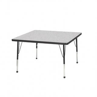 Mahar Manufacturing N36SQGT-SB 36 in. Square Activity Table with Gray Nebula & Graphite Edge - Standard Leg Ball Glides