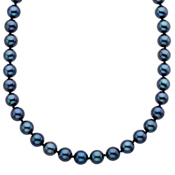 Grey Freshwater Pearl Necklace with 14K Gold Clasp