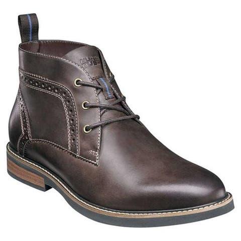 9187265a739a Nunn Bush Men s Ozark Plain Toe Chukka Boot Brown Chamois Leather