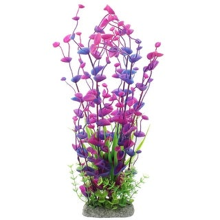 Ceramic Base Plastic Aquarium Plants Decorative Tricolor