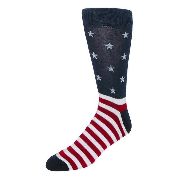 Parquet Men's Novelty Pattern Stars and Stripes Socks