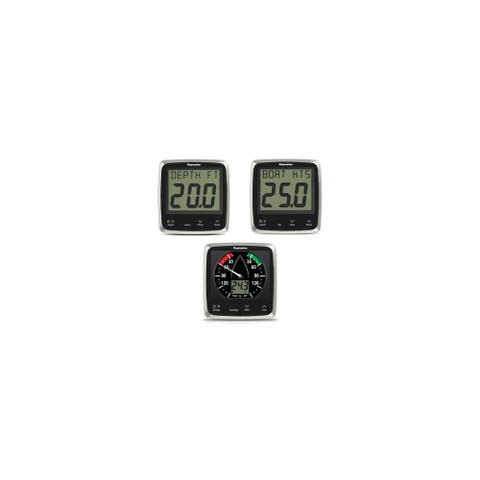 Raymarine E70153 i50/i60 Wind/Speed/Depth System Package w/ Contrast LCD Display - Black