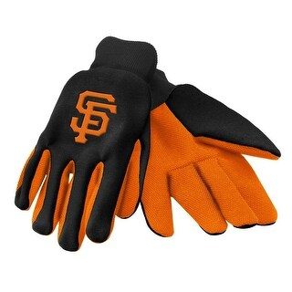 Officially Licensed MLB No Slip Gardening / Work / Utility Glove With Team Logo Baseball San Francisco Giants