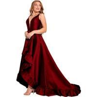 Jovani 57491A Prom Open Back Evening Dress
