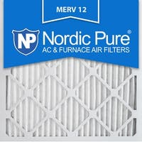 Nordic Pure 12x12x1 Pleated MERV 12 AC Furnace Air Filters Qty 12