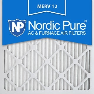 Nordic Pure 25x25x1 Pleated MERV 12 AC Furnace Air Filters Qty 6