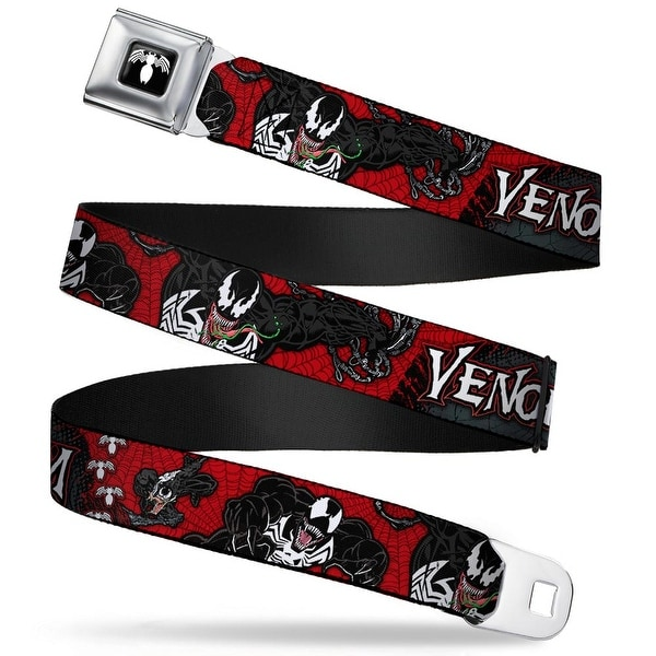 Marvel Universe Venom Spider Logo Full Color Black White Venom Poses Seatbelt Belt
