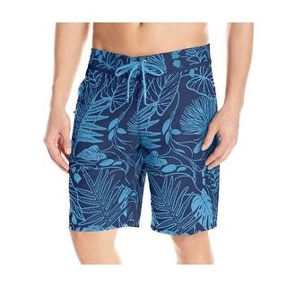 Reyn Spooner NEW Blue Mens Size 30 Printed Front-Tie Swim Board Shorts