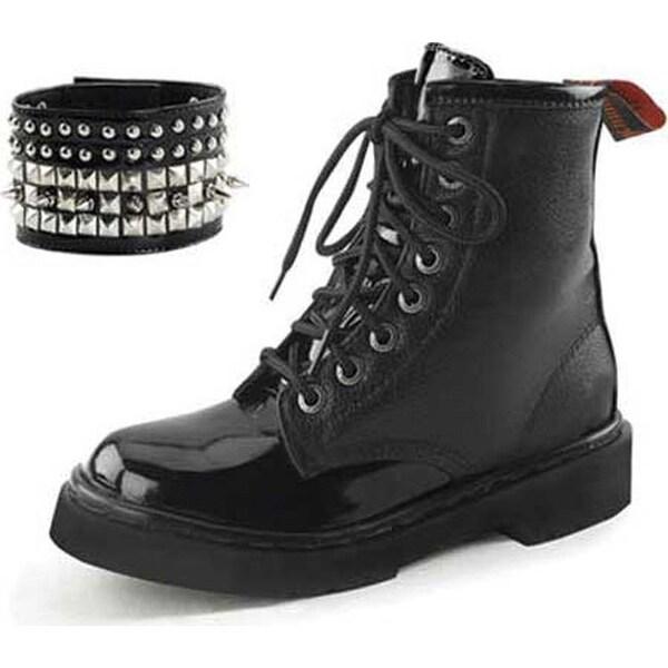 Shop Demonia Women's Rival 106 Boot Black Vegan Leather