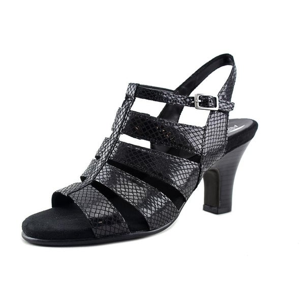 Aerosoles Me N You Women Black Snake Sandals
