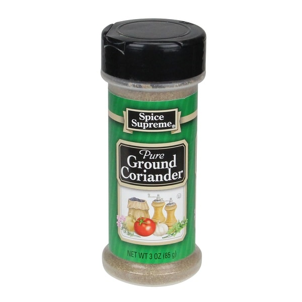 Set of 12 Spice Supreme Pure Ground Coriander 3 oz - Green - N/A