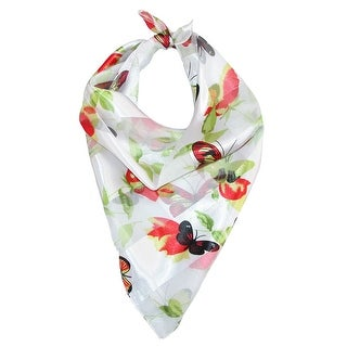 CTM® Women's Square Butterfly Print Scarf - One size