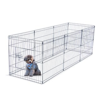 Link to Wire Fence Pet Dog Cat Folding Exercise Yard 8 Panel Metal Play Pen Similar Items in Dog Houses & Pens