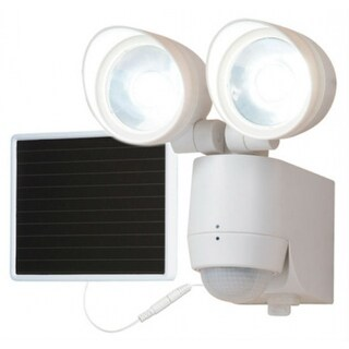 Consumer MST1301LW Solar Motion-Activated 130° Twin-Head LED Floodlight, White