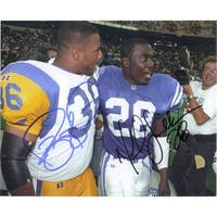 Signed Bettis Jerome Faulk Marshall 8x10 Photo By Jerome Bettis and Marshall Faulk autographed