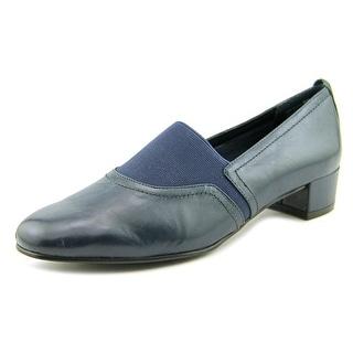 David Tate Gianna Women Round Toe Leather Blue Loafer