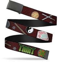 Blank Black  Buckle Classic Teenage Mutant Ninja Turtles Gear Elements Web Belt