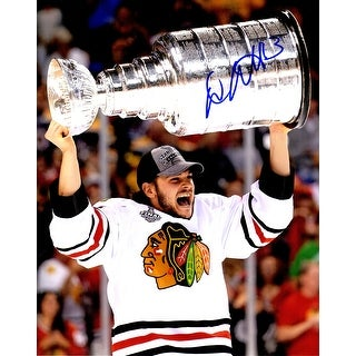 Daniel Carcillo Signed Chicago Blackhawks 2013 Stanley Cup Trophy 8x10 Photo