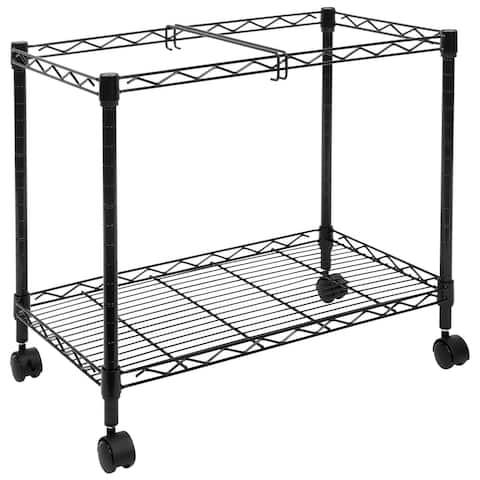 Mount-It! Rolling File Cart with Folder Rack