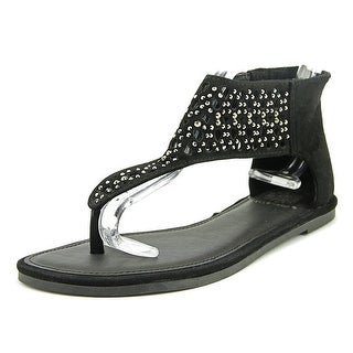 Yellow Box Acquarius Women  Open Toe Canvas Black Gladiator Sandal
