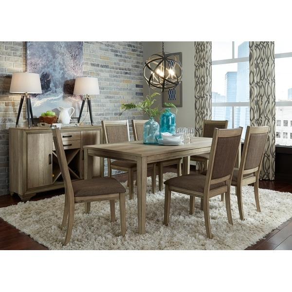 The Gray Barn Abbey Field 7-piece Rectangular Table Set. Opens flyout.