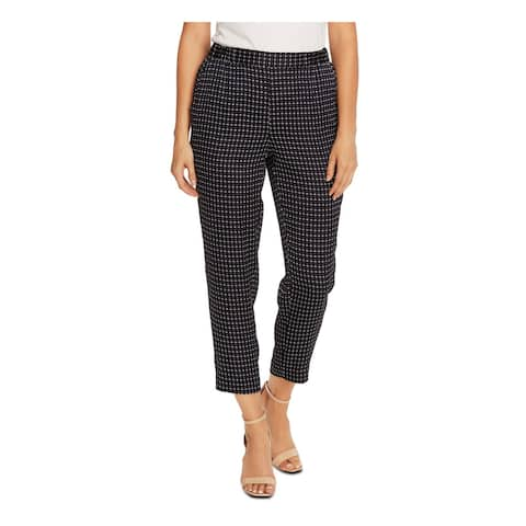 VINCE CAMUTO Womens Navy Mood Slim Leg Geometric Pants Size L
