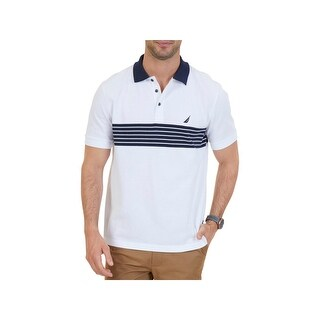 Nautica Mens Polo Shirt Classic Fit Striped