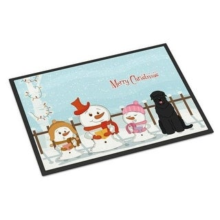Carolines Treasures BB2357MAT Merry Christmas Carolers Black Russian Terrier Indoor or Outdoor Mat 18 x 0.25 x 27 in.